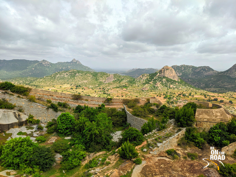 The Gudibande Fort landscape all lush after the rains