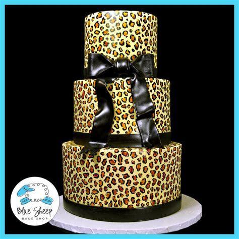 Sweet 16 Leopard Print Cake   Blue Sheep Bake Shop