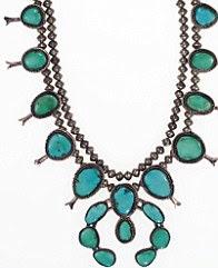 Um colar de turquesas Navajo