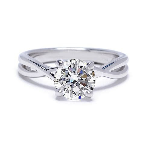 Twisted Band Solitaire Engagement Ring Setting
