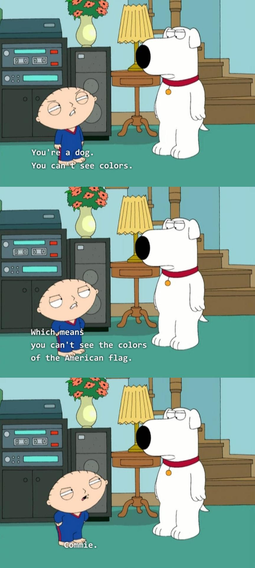 Stewie Griffin Insults Brian Griffin The munist Liberal Family Guy