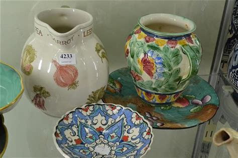 collection  assorted porcelain   laura ashley jug