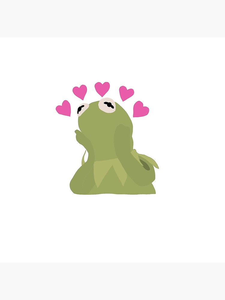Download Meme Kermit With Hearts Drawing Png Gif Base