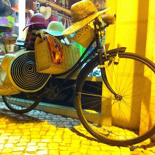 #straw #hat #bicycle @ #ericeira by Joaquim Lopes