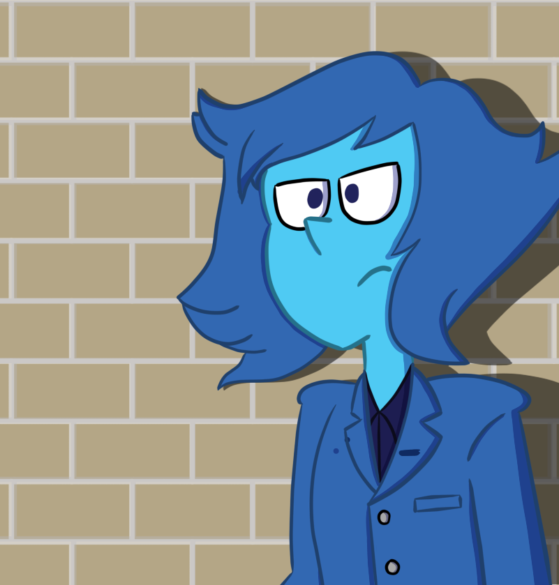 Have some somewhat noirish Lapis in a suit for absolutely no reason.
