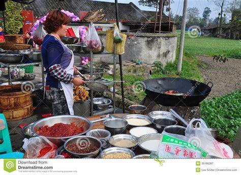 Pengzhou, China: Woman Cooking At Wedding Luncheon