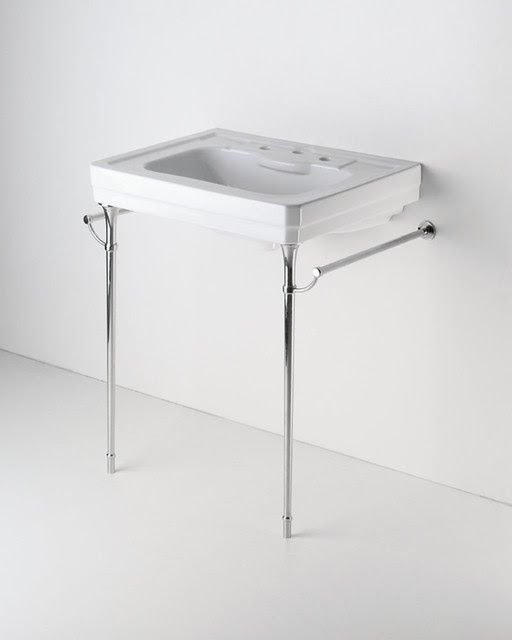 Park Rounded Metal Single Console Sink: Home Decorating Excellence