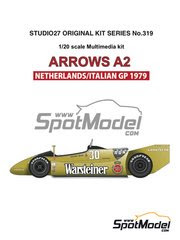 Maqueta de coche 1/20 Studio27 - Arrows Ford A2 Warsteiner Nº 29, 30 - Riccardo Patrese, Jochen Mass 1979 - kit multimaterial image
