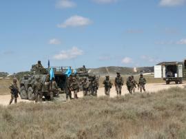 La parte operativa y la logística del XVII contingente del Líbano se certifican en un mismo ejercicio.