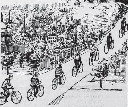 """Bikes (""""Wheels"""") in DC - 1896"""