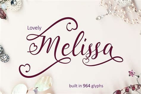 Lovely Melissa Font   Fonts   Fonts, Premium fonts