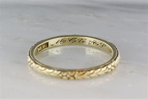 antique mens late victorian  gold wedding band