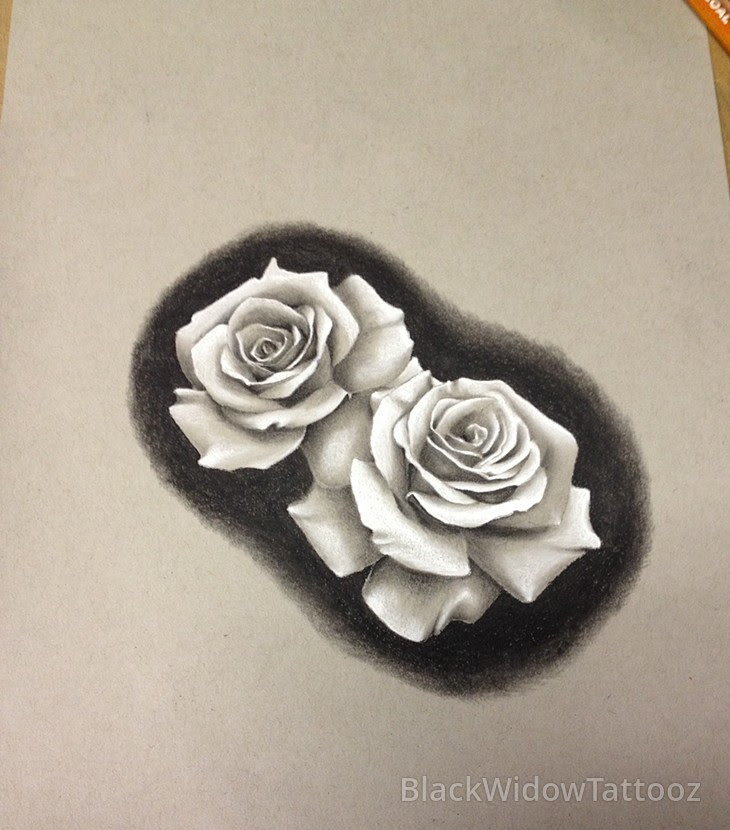2 Roses Drawing At Getdrawingscom Free For Personal Use 2 Roses