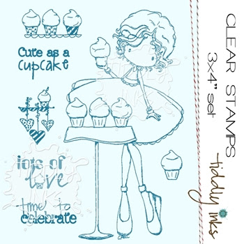Tiddly Inks CUTE AS A CUPCAKE Sweet Tooth Clear Stamp Set TI069