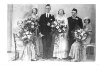 John &  Bertha's wedding 1934