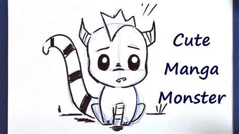 draw  manga monster super cute  easy youtube