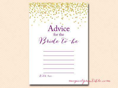 Purple, Gold Confetti Bridal Shower Game Pack