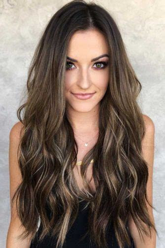 trendy choices  brown hair  highlights