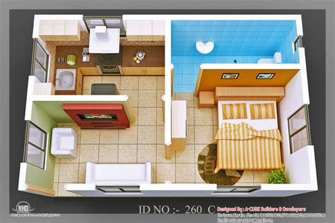isometric views  small house plans kerala house