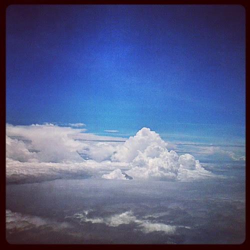 Cloud colony #sky  #instagram #instamood  #instapic  #aeroplane by be.samyono