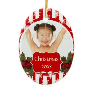 Christmas photo PERSONALIZE Christmas Ornament