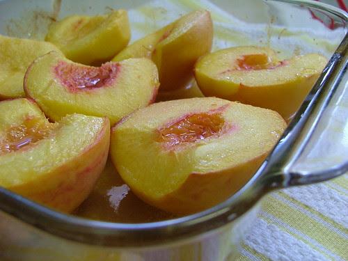 Vanilla Roasted Peaches