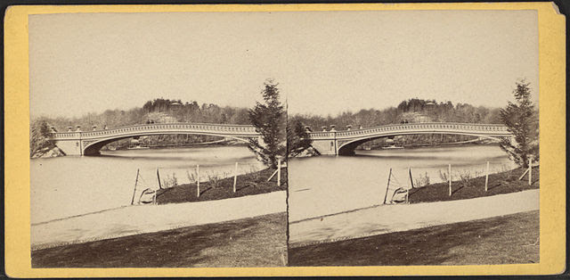 View of the Bow Bridge, Central Park, by Chase, W. M. (William M.), ca. 1818-1901