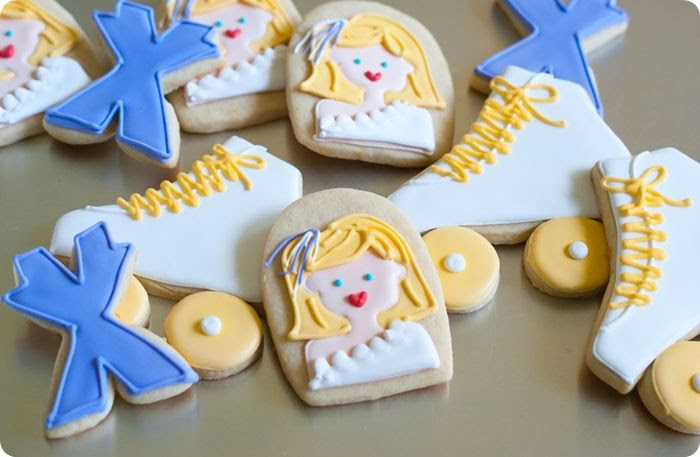 xanadu decorated cookies + a recipe for vanilla-clementine cut-out cookies