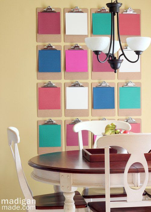 Large Clipboard Wall Décor ~ Madigan Made { simple DIY ideas