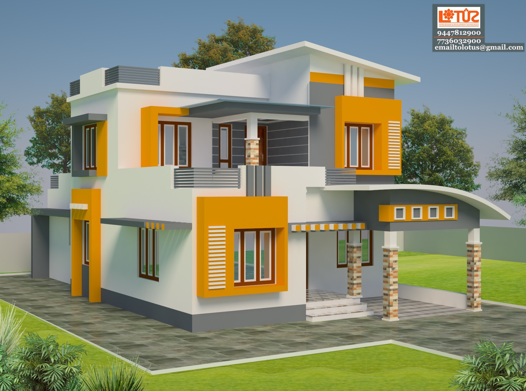 2200 Square Feet 4 Bedroom Simple Contemporary Home Design For 44 Lacks  Home Pictures