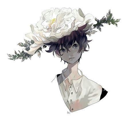 anime boy flower hat anime boys anime art anime