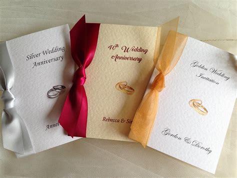 Rings Wedding Anniversary Invitations