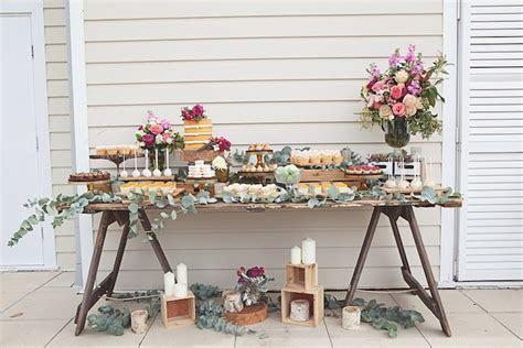 Trestle Cake Table ? Simple Rustic