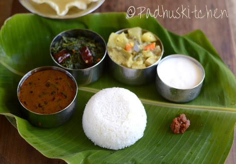 Padhuskitchen lunch menus south indian lunch menu forumfinder Images