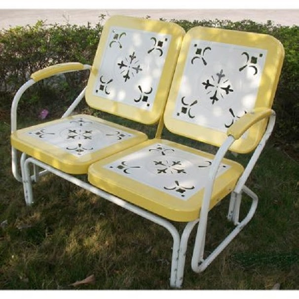 Reproduction Inventory Vintage Metal Gliders Old Fashioned Metal Chairs And Retro Metal Tables Vintage Furniture Company