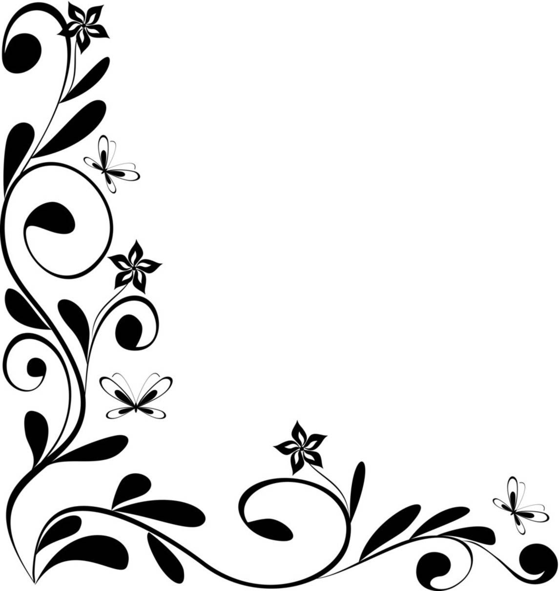 Free Black And White Flower Designs Download Free Clip Art Free