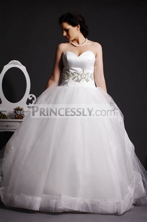 Strapless Sweetheart Beading Layered Tulle Ball Gown