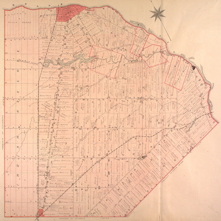 Map of Oneida Township