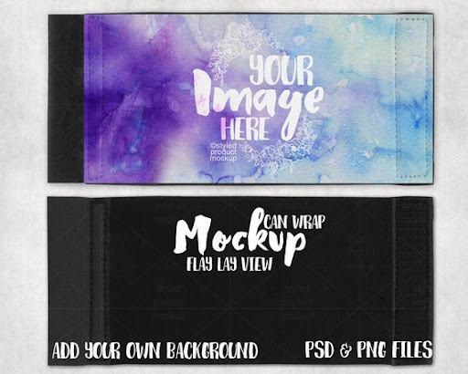 Download Free Dye Sublimation Can Wrap Without Border Mockup ...