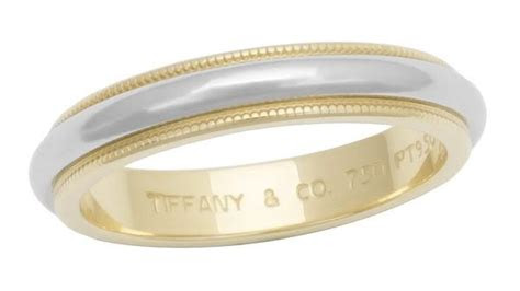 tiffany  mm milgrain wedding band platinum