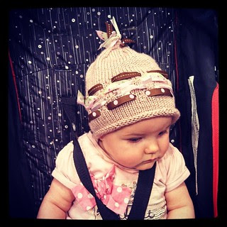 Quinn and the #ribbons #babyhat #handknit #knitstagram #toocute