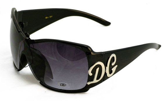 DG Optical Eyewear Women's Brown Posh Hollywood Style Sunglasses with Chrome, Copper Accents: Shoes