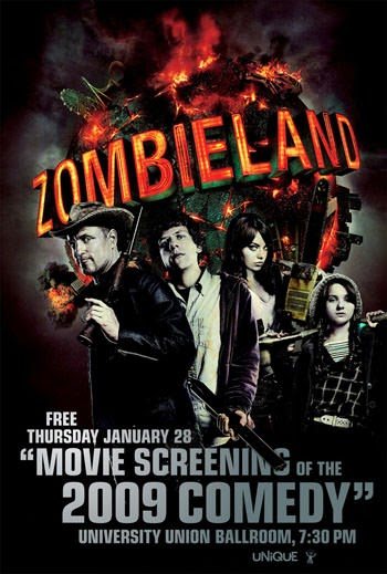 Zombieland 2009 Dual Audio ORG Hindi BluRay 720p 600MB
