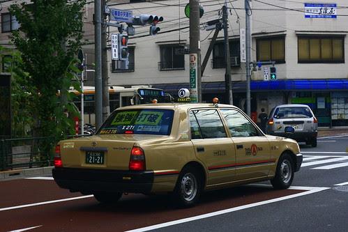 taxi nipón en Tokyo