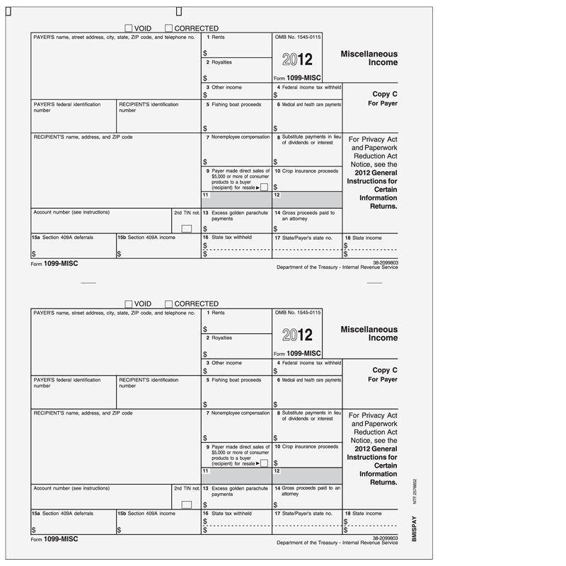New Form 1099 Misc Fillable