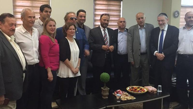 La delegazone saudita guidata dall'ex generale Anwar Eshki alla Knesset
