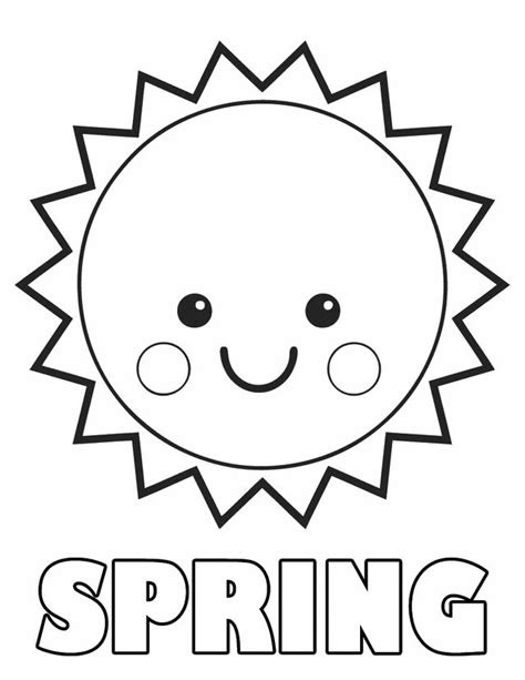 Coloring Page Printable Spring Creative Art