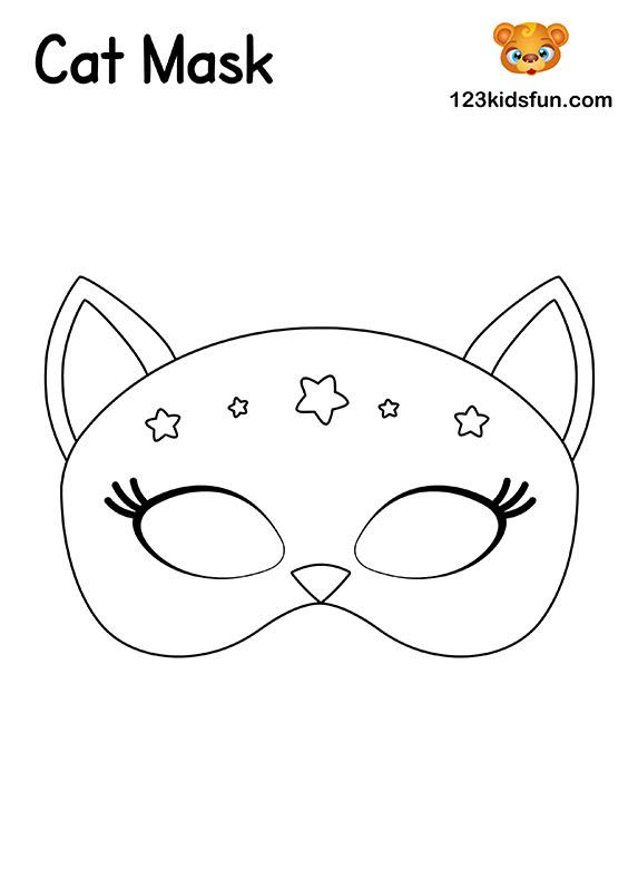 Free Printable Masquerade Masks Template | 123 Kids Fun Apps
