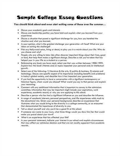 how to write a college admission essay university