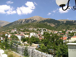View of Karpenisi, in Evritania prefecture, Gr...